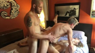 Bisexual MMF Threesome with Lily Love & Sherman Maus